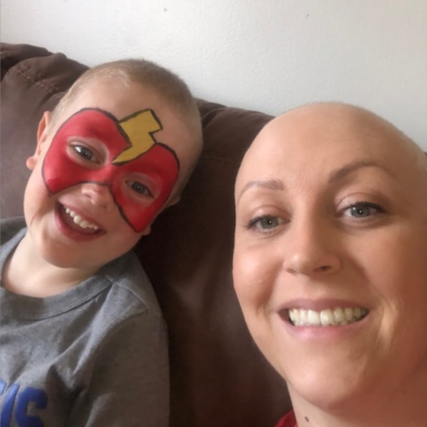 The innocence of a toddler and the reality of cancer